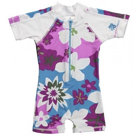 UV baby badpak Purple flower