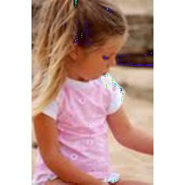 UV shirt & short Pink sparkle