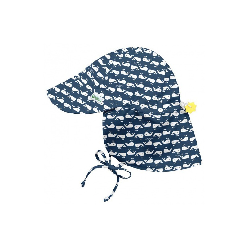 sun hat whale with flap
