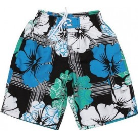UV boardshort MINT HIBISCUS