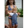 UV baby badpak NAVY SEAHORSE (korte mouw)