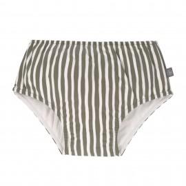 Zwemluier Olive Stripe - UPF50+ - herbruikbaar - Lassig