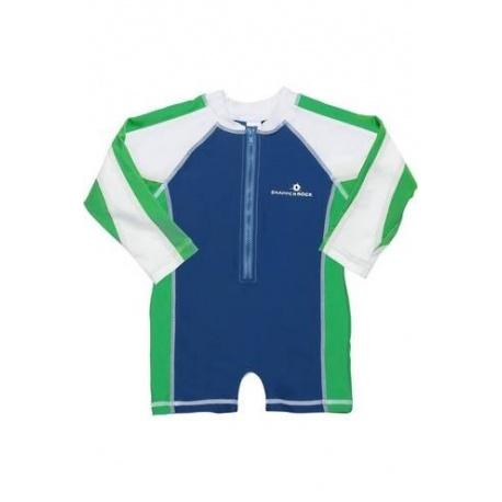 UV baby badpak blauw groen (lange mouw)