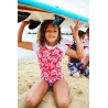 UV shirt & short Red & White flower
