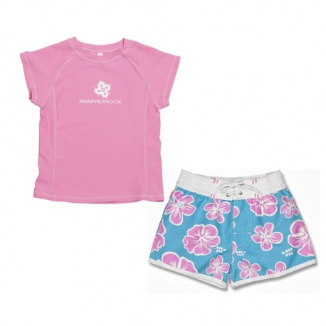 UV shirt & Boardshort hibiscus