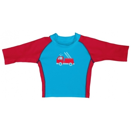 UV shirt Firetruck Baby driekwarts mouw