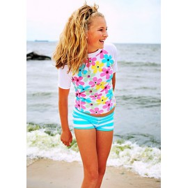 UV shirt & short Pastel flower