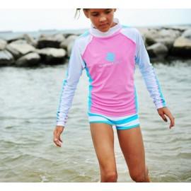 UV shirt & short Pink Aqua (lange mouw) Baby