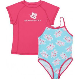 UV shirt & badpak Ocean Raspberry (2 delige set)