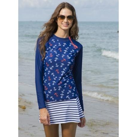 UV Swim skirt stripe