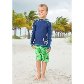 UV shirt en boardshort Captain lange mouwen