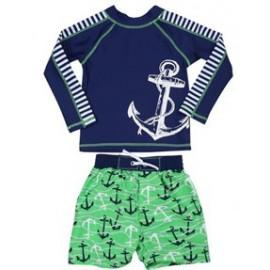 UV Shirt en Boardshort Captain (lange mouwen) - Baby