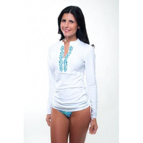 UV shirt white/blue