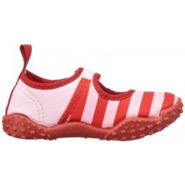 Waterschoenen Roze met rode strepen