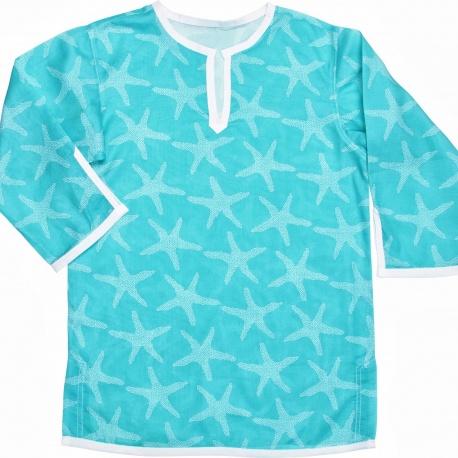 Blauwe Kaftan met zeester print