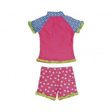 UV shirt en zwembshort Bloemen