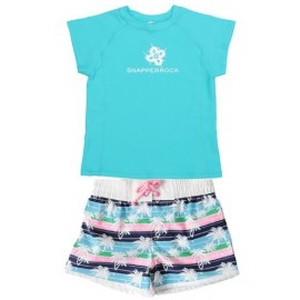 UV shirt aqua & zwemshort Palm Tree