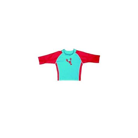 UV shirt aqua red lobster
