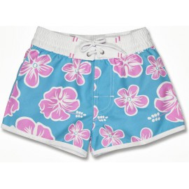 UV boardshort Hibiscus