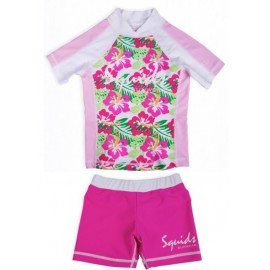 UV shirt Funcky Flower en zwembroekje Pink Power