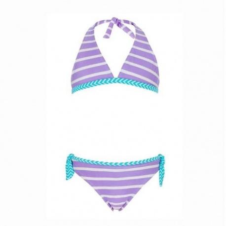 Meisjes Bikini Lavender Stripe