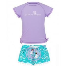 UV shirt_lavender_zwemshort Medalion