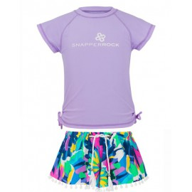UV shirt_lavender_zwemshort Tropical