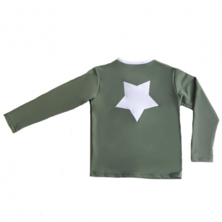 UV shirt lange mouw met rits- Army