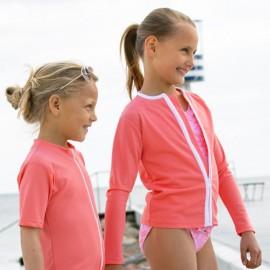 UV shirt lange mouw - rits - Flamingo
