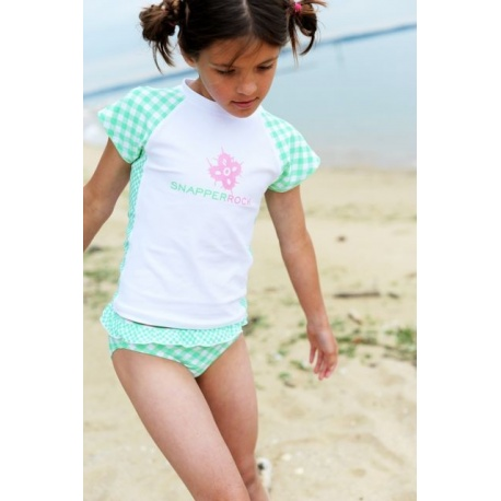 UV shirt en zwemshort Green Check