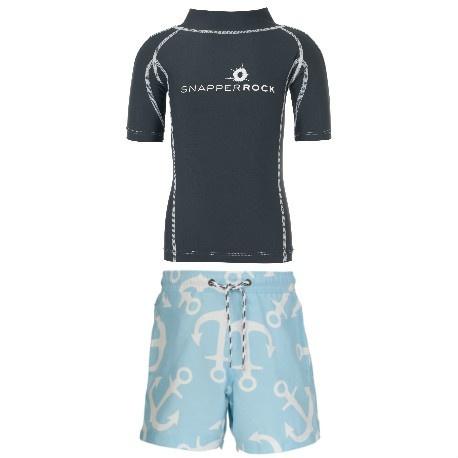 UV Shirt Blue + Zwembroek Anker