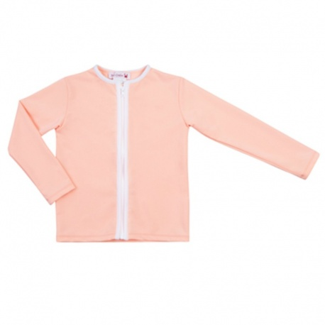 UV shirt lange mouw - rits - Peach