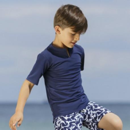 UV Shirt Blue | UV Schwimmshirt Blue Petit Crabe