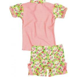 UV shirt en zwembshort Roses
