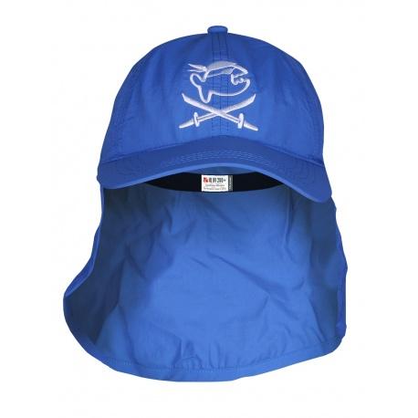 UV pet Piraat Blauw met nekbescherming