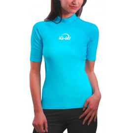 UV Shirt dames Slim Fit Turquoise