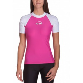 UV Shirt dames Slim Fit White Pink