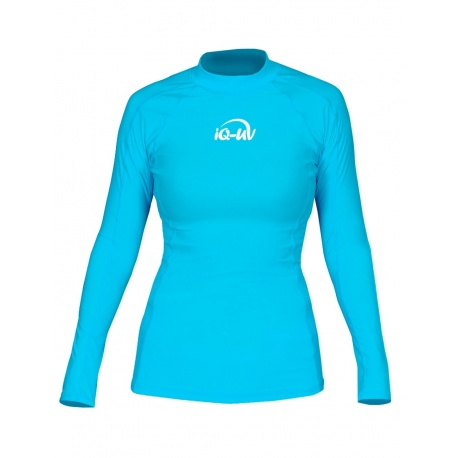 UV Shirt dames Slim Fit Turquoise Lange mouwen