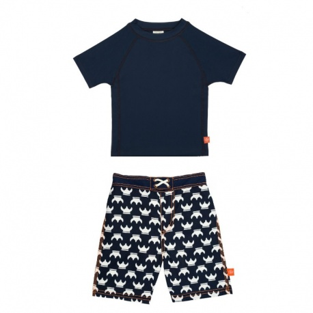 UV Zwemset: UV Shirt Navy + Zwembroek Vikings van Lassig