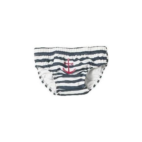 Zwemluier blauw met witte strepen