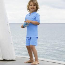 Zwemset: UV Shirt Sky blue + Zwembroek Skye Blue Petit Crabe
