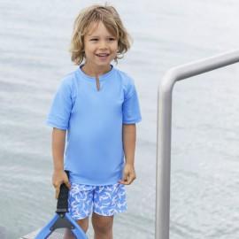 Zwemset: UV Shirt Sky + Zwembroek Sky Dolphin