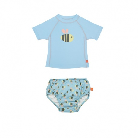 Zwemset: UV Shirt Bumble bee + Zwemluier Bumble bee