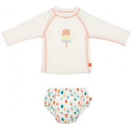 Zwemset: UV Shirt Ijsjes + Zwemluier ijsjes