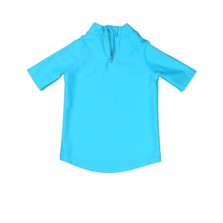 UV zwemshirt Turquoise met Rits achterzijde