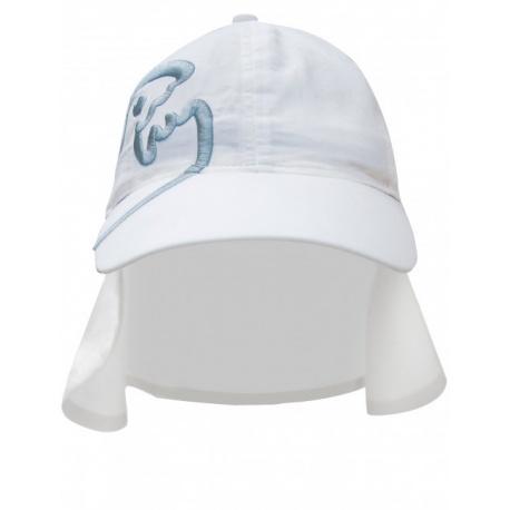 UV pet Wit met nekbescherming | Zonnehoedje Wit UPF 80 IQ-UV