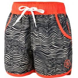 uv zwemset meisjes: uv shirt coral + zwemshort tove