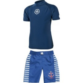 UV shirt Estate Blue + Zwembroek Anker