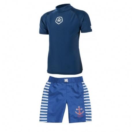 UV shirt Estate Blue + Zwembroek Anker
