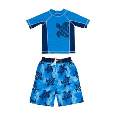 UV shirt & boardshort Blue Tortoise Baby